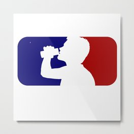 MLD Major League Drinking Metal Print