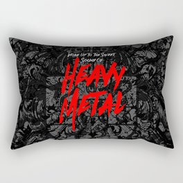 Woke Up To The Sweet Sound Of HEAVY METAL Rectangular Pillow