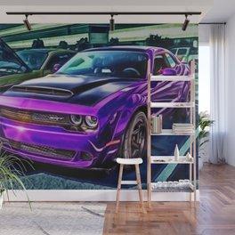 Plum Crazy Purple Challenger Hellcat Wall Mural