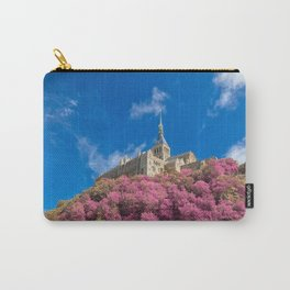 Mont Saint-Michel Abbey - Pink Fantasy Carry-All Pouch