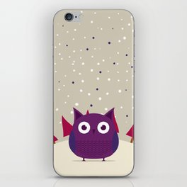 Cute owl iPhone Skin