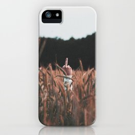 Fuck Off - Middle Finger  iPhone Case