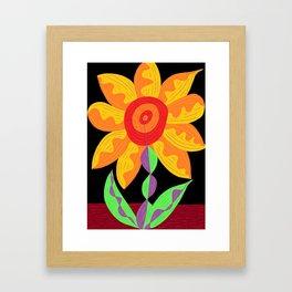Flower of the imagination Framed Art Print