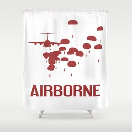Airborne Jump (Airborne Red) Shower Curtain
