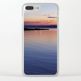A sunset view of Ballyholme Clear iPhone Case
