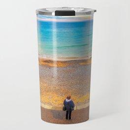 Watching The Sea at Cromer Beach, U.K Travel Mug