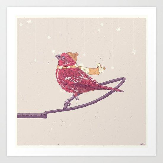 Winter Finch Art Print
