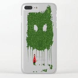 Red and the Wolf Clear iPhone Case