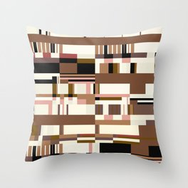 Debussy Little Shepherd (Coffee Colours) Throw Pillow