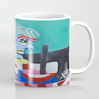 pablo picasso Mugs featuring Picasso Remake 2000   by Artist_Fran_Doll