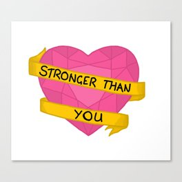 Stronger than you crystal heart Canvas Print