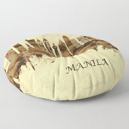 Manila Philippines Cityscape Floor Pillow
