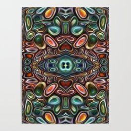 The Jubes - repeating pattern of small candy like glass shapes Poster