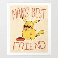 Mans Best Friend Art Print