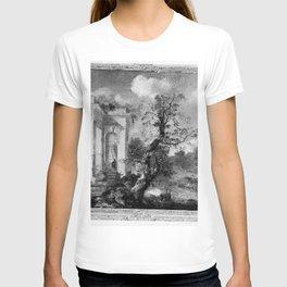 Hubert Robert - Landschap met klassieke ruïnes T-shirt