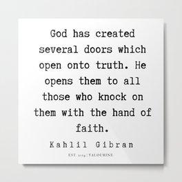 31   | Kahlil Gibran Quotes | 190701 Metal Print
