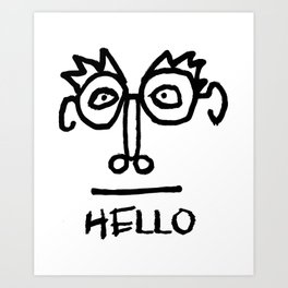 Hello Man Art Print