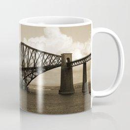 Forth Bridge, Scotland, in Sepia Coffee Mug