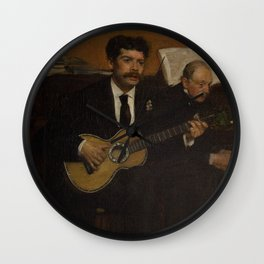 Lorenzo Pagans and Auguste de Gas Wall Clock