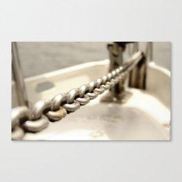 Anchor chain in detail Canvas Print