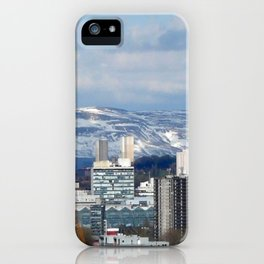 Glasgow and The  Campsie Fells iPhone Case