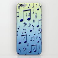 music notes iPhone & iPod Skins featuring Music notes by Gaspar Avila
