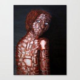 Girl of Bricks Canvas Print