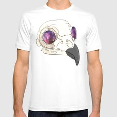 Owl Sees All White Mens Fitted Tee MEDIUM