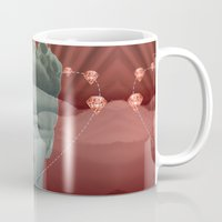 diamonds Mugs featuring diamonds by Rosa Picnic