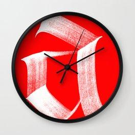 A fraktur White Wall Clock