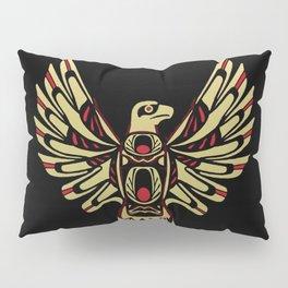 Tribal Black and Gold Eagle Digital Design Pillow Sham