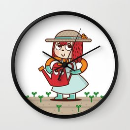 Susie the Little Gardener Wall Clock