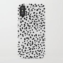 Black and White Dalmatian iPhone Case