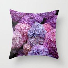 Spring Hydrangeas 2 Throw Pillow