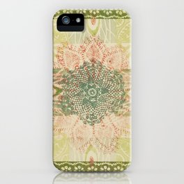 Monoprint 12 iPhone Case