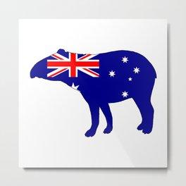 Australian Flag - Tapir Metal Print