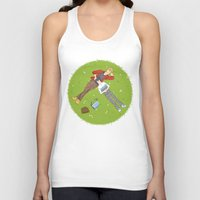 iwatobi Tank Tops featuring Sunbathing by Le Piaf Bleu