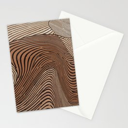 wooden abstract art Stationery Cards