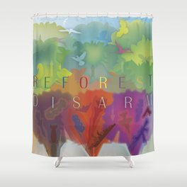 Color Forest Shower Curtain