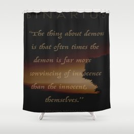 Demons Shower Curtain