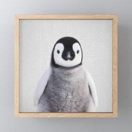 Baby Penguin - Colorful Framed Mini Art Print