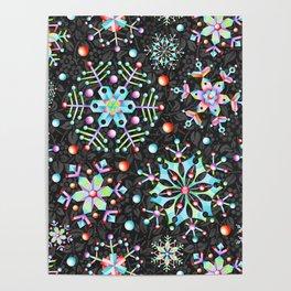 Snowflake Filigree Poster