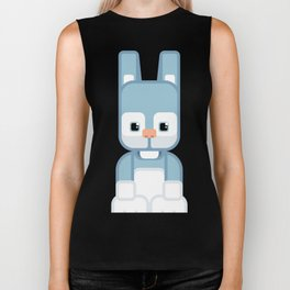 Blue Bunny Rabbit - Super Cute Animals Biker Tank