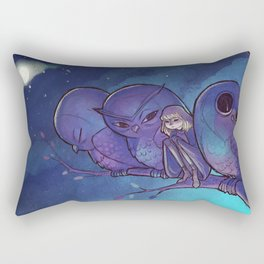 Good Night Troubles Rectangular Pillow