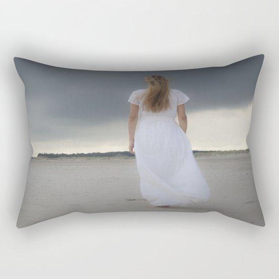 Waiting for the storm Rectangular Pillow