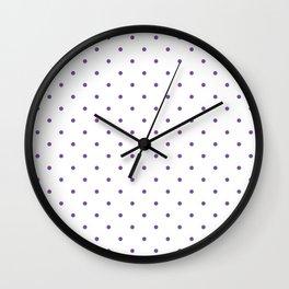 Small Purple Polka Dots Wall Clock