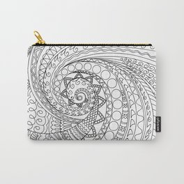 abstract zen tangled pattern swirl -2 Carry-All Pouch