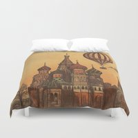 moscow Duvet Covers featuring Moving to Moscow by Terry Fan