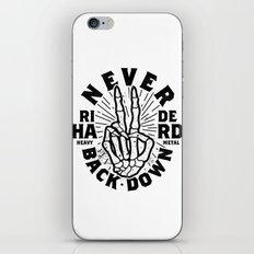 Never Back Down iPhone & iPod Skin