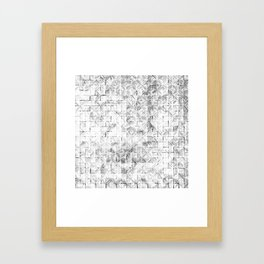 Ink Stitch: White Howlite Framed Art Print